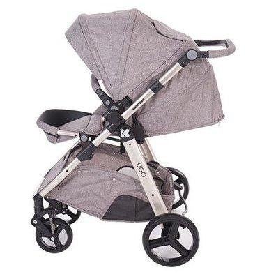 Бебешка количка 3в1 UGO KikkaBoo Beige Melange