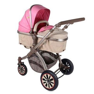 детска количка AURORA /въздушни гуми/ Lorelli - Rose&Beige Fashion Girl