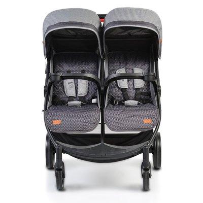детска количка за близнаци Rome Moni - сива