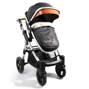 Комбинирана бебешка количка Luxor CANGAROO - черна
