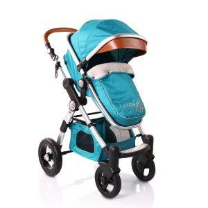 Комбинирана бебешка количка Luxor CANGAROO - тюркоаз