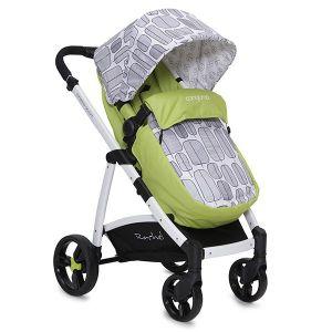 Комбинирана бебешка количка Rachel CANGAROO - зелена new