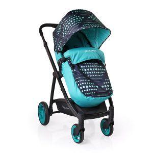 Комбинирана бебешка количка Rachel CANGAROO - сини точки