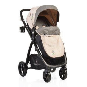 Комбинирана бебешка количка Stefanie CANGAROO - каки