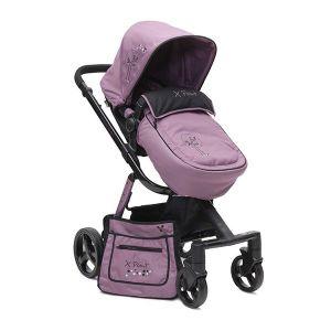 Комбинирана бебешка количка X-Point CANGAROO - виолетова