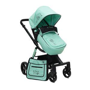 Комбинирана бебешка количка X-Point CANGAROO - зелена