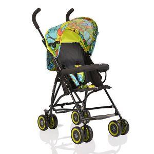 Лятна бебешка количка Billy MONI - зелени пеперуди