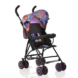 Лятна бебешка количка Billy MONI - лилави пеперуди
