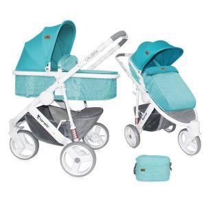 Бебешка количка 2в1 CALIBRA 3 Lorelli - Aquamarine