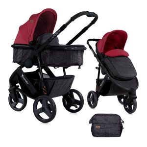 Бебешка количка 2в1 CALIBRA 3 Lorelli - Black&Red