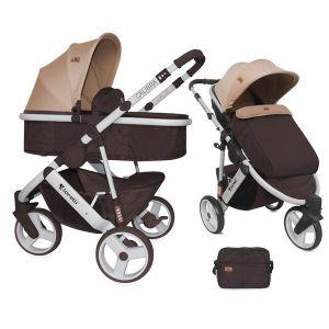 Бебешка количка 2в1 CALIBRA 3 Lorelli - Brown&Beige
