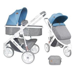 Бебешка количка 2в1 CALIBRA 3 Lorelli - Grey&Blue
