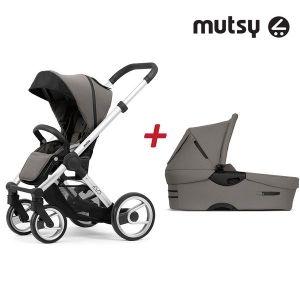 Бебешка количка 2в1 EVO Bold Standard MUTSY - Bold Warm Grey