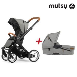 Бебешка количка 2в1 EVO UN Black MUTSY - Urban Nomad Light Grey