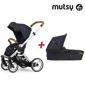 Бебешка количка 2в1 EVO UN Standard MUTSY - Urban Nomad Deep Navy