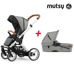 Бебешка количка 2в1 EVO UN Standard MUTSY - Urban Nomad Light Grey