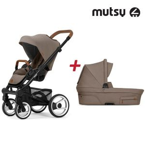 Бебешка количка 2в1 NIO Black MUTSY - Adventure Dune Grey