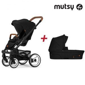Бебешка количка 2в1 NIO Black MUTSY - North Black