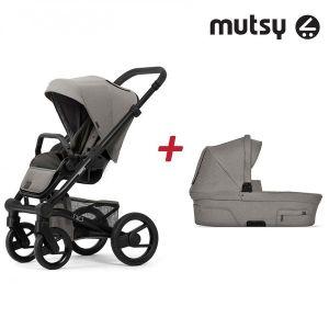 Бебешка количка 2в1 NIO Black MUTSY - North Stormy Weather