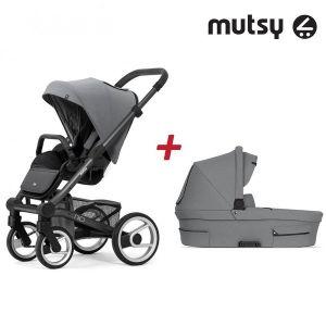 Бебешка количка 2в1 NIO Dark Grey MUTSY - Inspire Light Shade