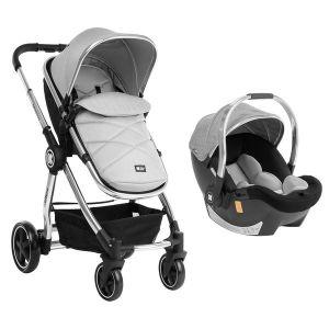 Бебешка количка 3в1 Allure KIKKABOO - Grey