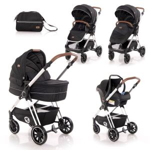 Детска количка 3в1 Angel LORELLI - Black