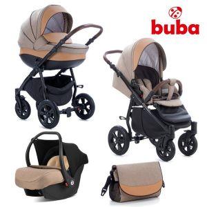 Комбинирана бебешка количка 3в1 Forester Buba - бежова