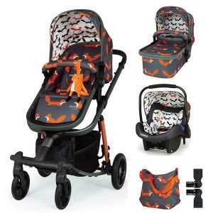 Бебешка количка 3в1 Giggle Quad Charcoal Mister Fox COSATTO