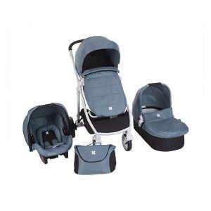 Бебешка количка 3в1 UGO KIKKABOO - Blue