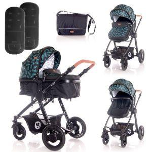 Детска комбинирана количка ALEXA LORELLI - Black LEAVES