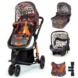 Комбинирана бебешка количка 3в1 Giggle 3 Charcoal Mister Fox Cosatto