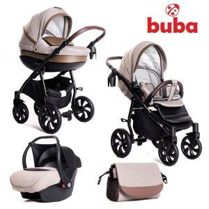 Бебешка количка 3в1 Estilo BUBA - бежова