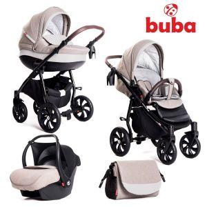 Бебешка количка 3в1 Estilo BUBA - светло сива