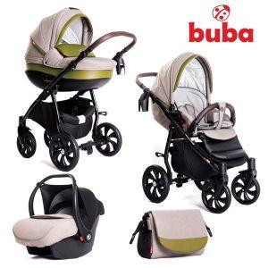 Бебешка количка 3в1 Estilo BUBA - зелена