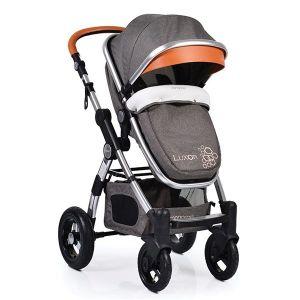Комбинирана бебешка количка Luxor CANGAROO - сива