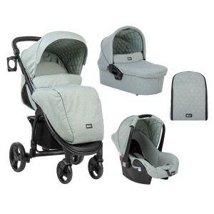 Бебешка количка 3в1 Madrid KikkaBoo - Mint Melange