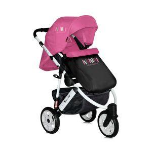 Детска количка MONZA 3 2в1 /въздушни гуми/ LORELLI - Rose&Black
