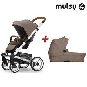 Бебешка количка 2в1 NIO Standard MUTSY - Adventure Dune Grey