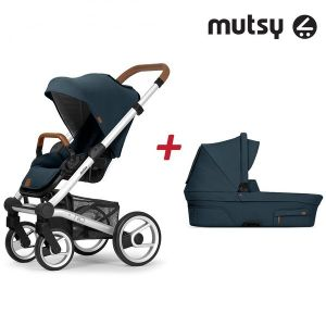 Бебешка количка 2в1 NIO Standard MUTSY - Adventure Ocean Blue