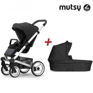 Бебешка количка 2в1 NIO Standard MUTSY - Explore Steel Grey