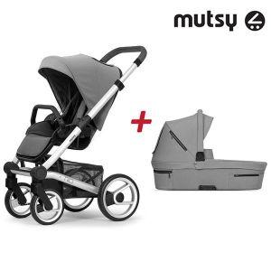 Бебешка количка 2в1 NIO Standard MUTSY - Journey Ice Grey