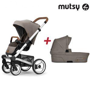 Бебешка количка 2в1 NIO Standard MUTSY - North Sand
