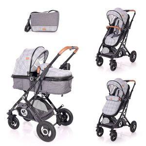 Бебешка количка SENA LORELLI - Grey SQUARED