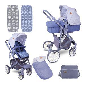 Бебешка комбинирана количка VERSO LORELLI - GREY