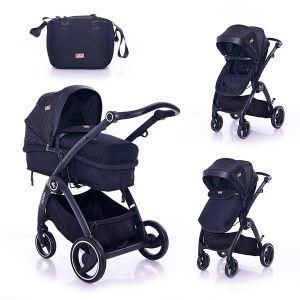 Комбинирана бебешка количка ADRIA LORELLI - черна