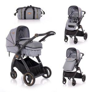 Комбинирана бебешка количка ADRIA LORELLI - Grey