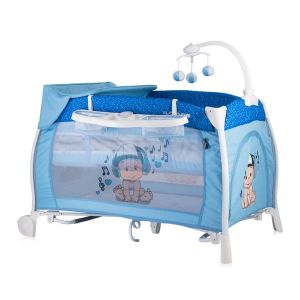 Бебешка сгъваема кошара iLOUNGE Lorelli - синя