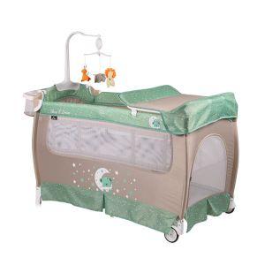 Бебешка сгъваема кошара Slеep 'N' Dream 2 Layers Plus Lorelli - зелена