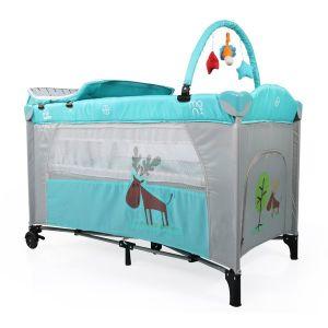 Бебешка сгъваема кошара Happy Baby MONI - тюркоаз