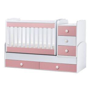 Детско легло Лейди Dizain Baby - бял + розово